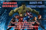 Personalised Avengers Invitations